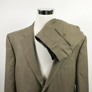 Jos A Bank 48R Suit 44 x 28 Pleated Houndstooth